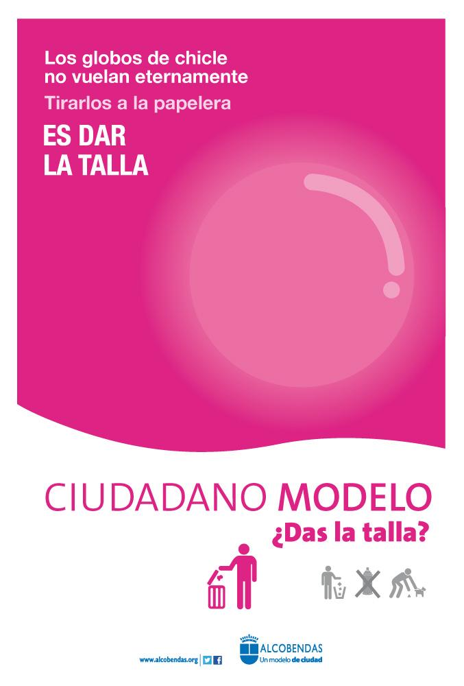 Foto Anuncio digital Ayuntamiento Alcobendas limpieza de chicles