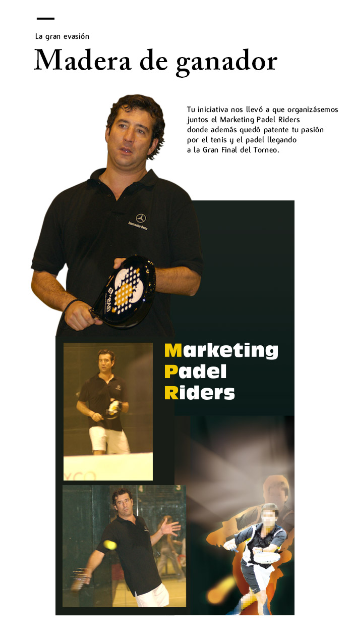 Marketing Padel Riders ONEASY Txema Izuzquiza